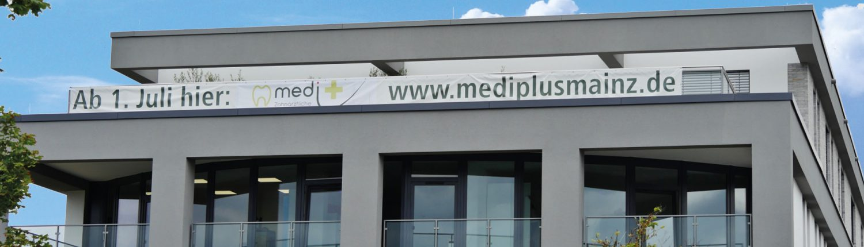 medi+ medi plus Praxisklink Banner